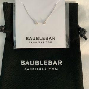 BaubleBar Arrow Silver Necklace. New